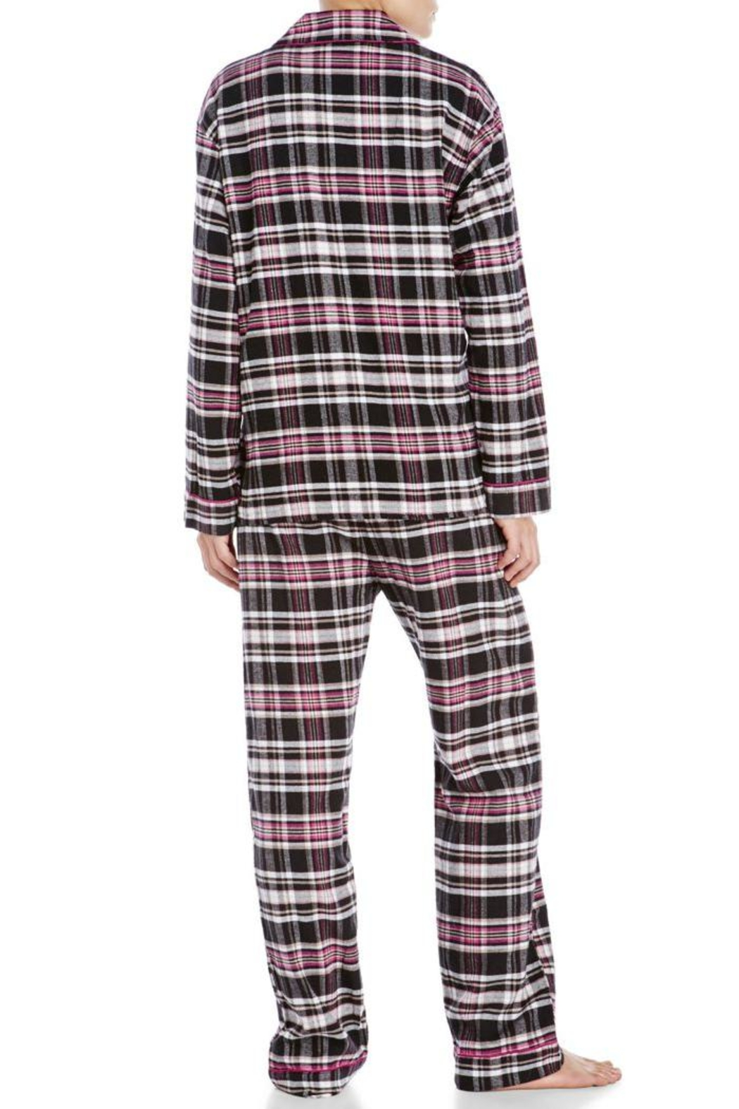 The Dressing Room Black Pink Plaid - Front Full Image