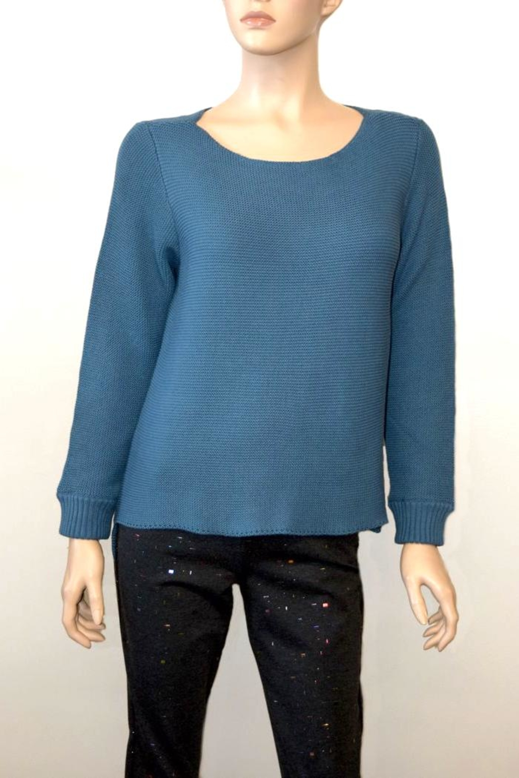 The Dressing Room Blue Cotton Sweater - Main Image