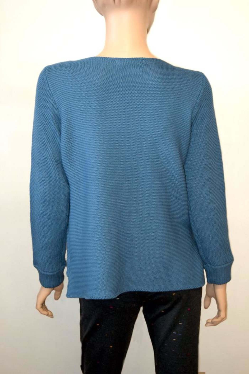 The Dressing Room Blue Cotton Sweater - Front Full Image