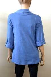 The Dressing Room Blue Cowl Neck - Side cropped