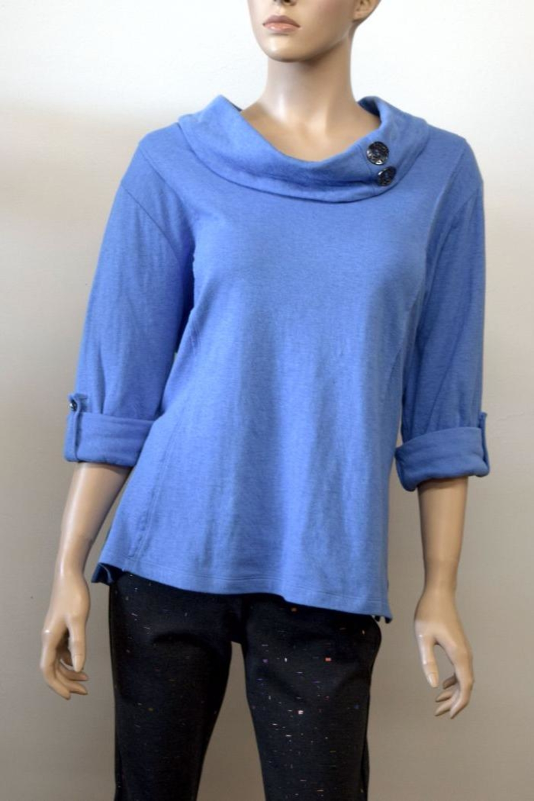 The Dressing Room Blue Cowl Neck - Main Image