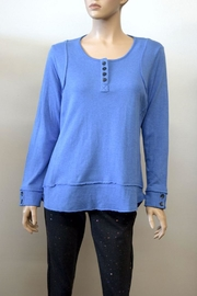 The Dressing Room Blue Dressd-Up Henley - Product Mini Image