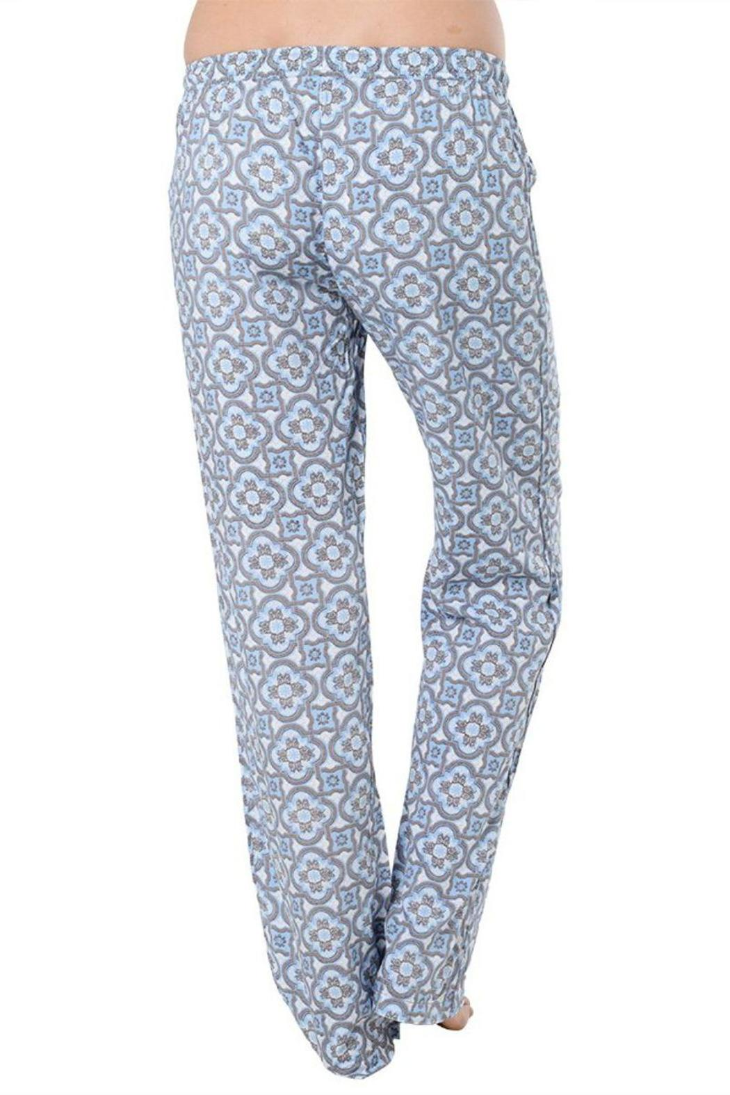 The Dressing Room Blue Medallion Bottoms - Side Cropped Image