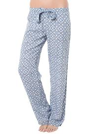 The Dressing Room Blue Medallion Bottoms - Front cropped