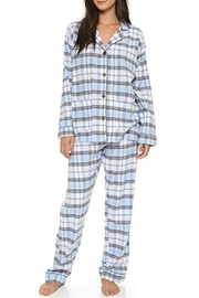 The Dressing Room Blue Plaid Flannel - Product Mini Image