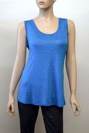 The Dressing Room Blue Rhinestone Tank - Product Mini Image