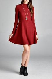 The Dressing Room Burgundy Dress - Product Mini Image
