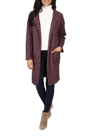 The Dressing Room Burgundy Open Duster - Product Mini Image