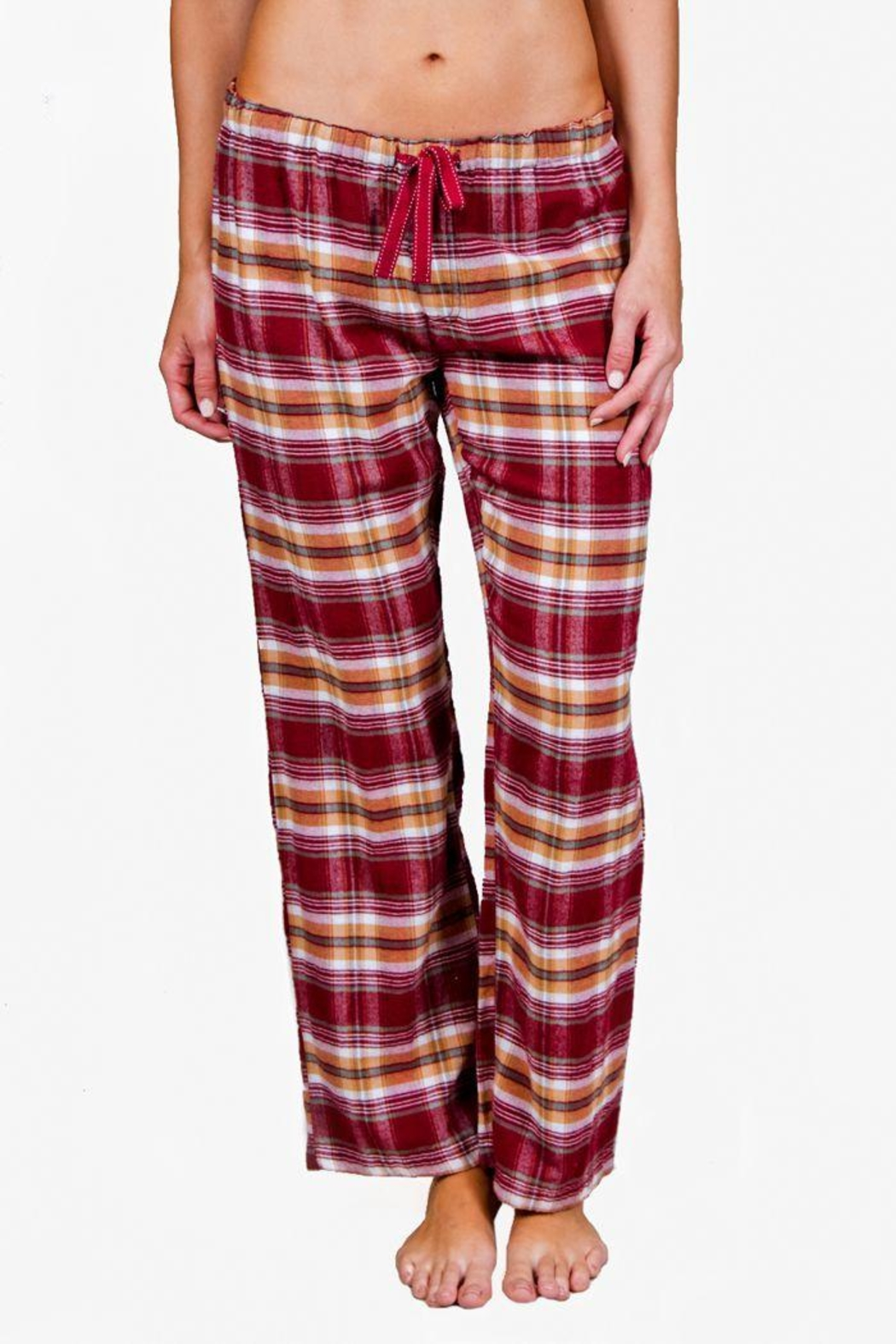 The Dressing Room Burgundy Plaid Pant - Main Image