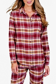 The Dressing Room Burgundy Plaid Top - Product Mini Image