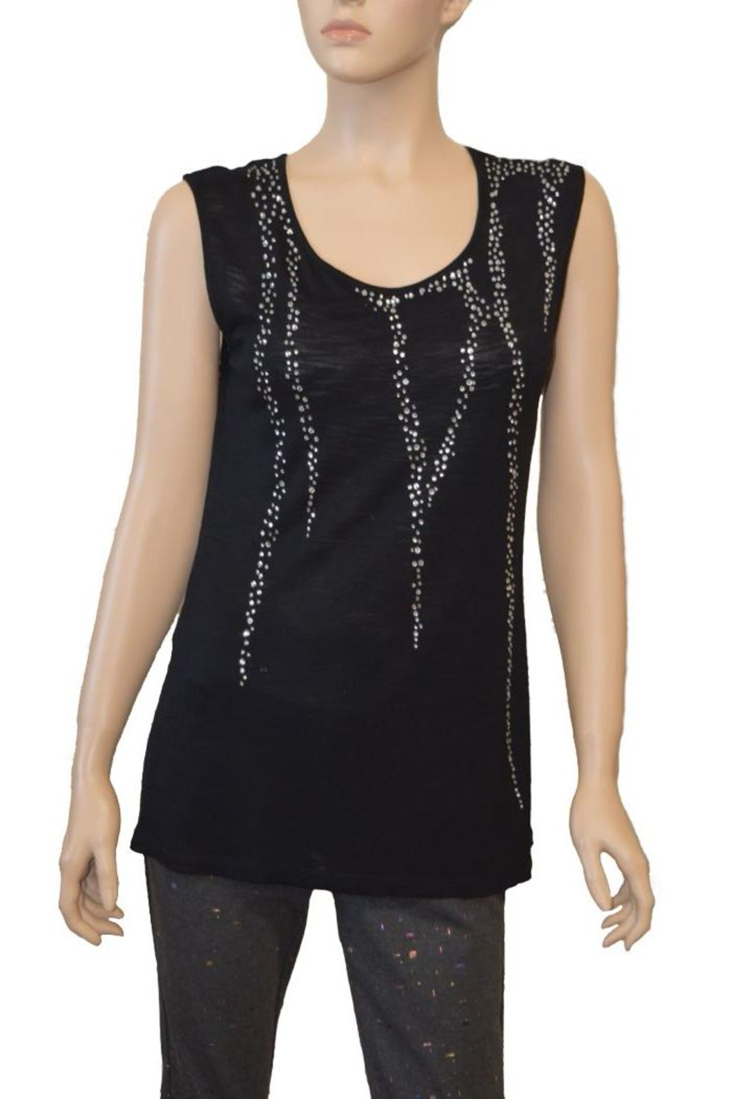 The Dressing Room Burnout Rhinestone Tank - Main Image
