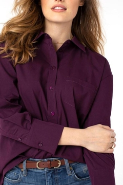 The Dressing Room Button-Down Oversized Blouse - Product List Image