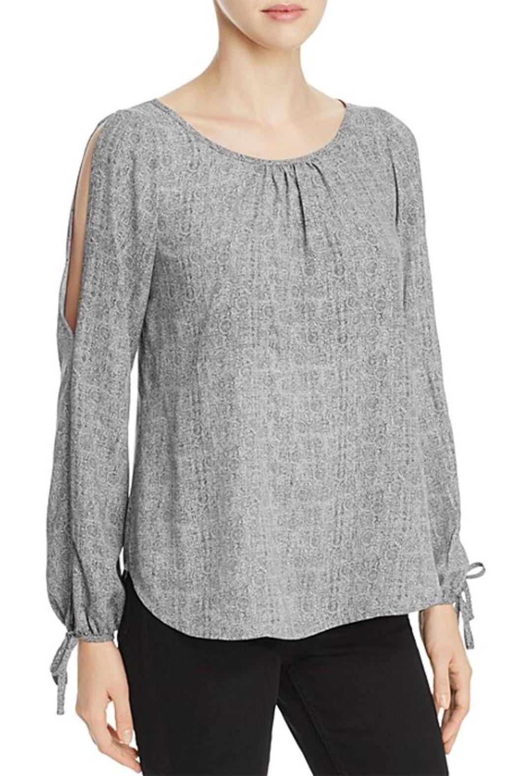 The Dressing Room Cold Shoulder Blouse - Front Cropped Image
