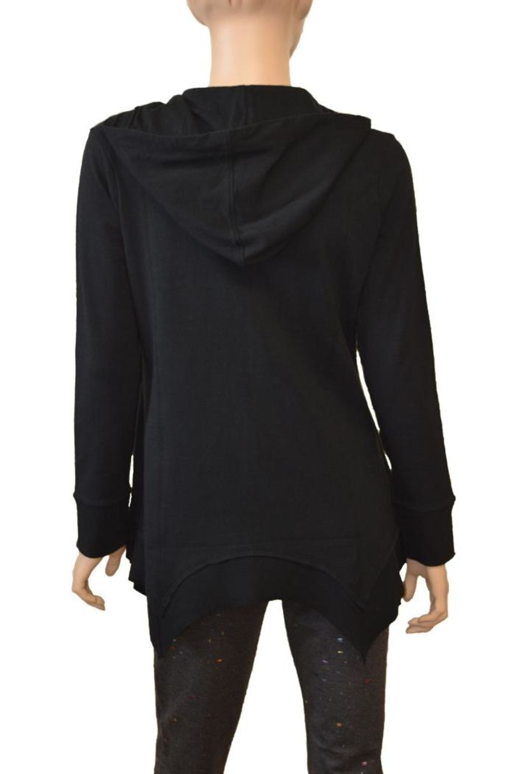 The Dressing Room Cotton Zip Hoodie - Side Cropped Image