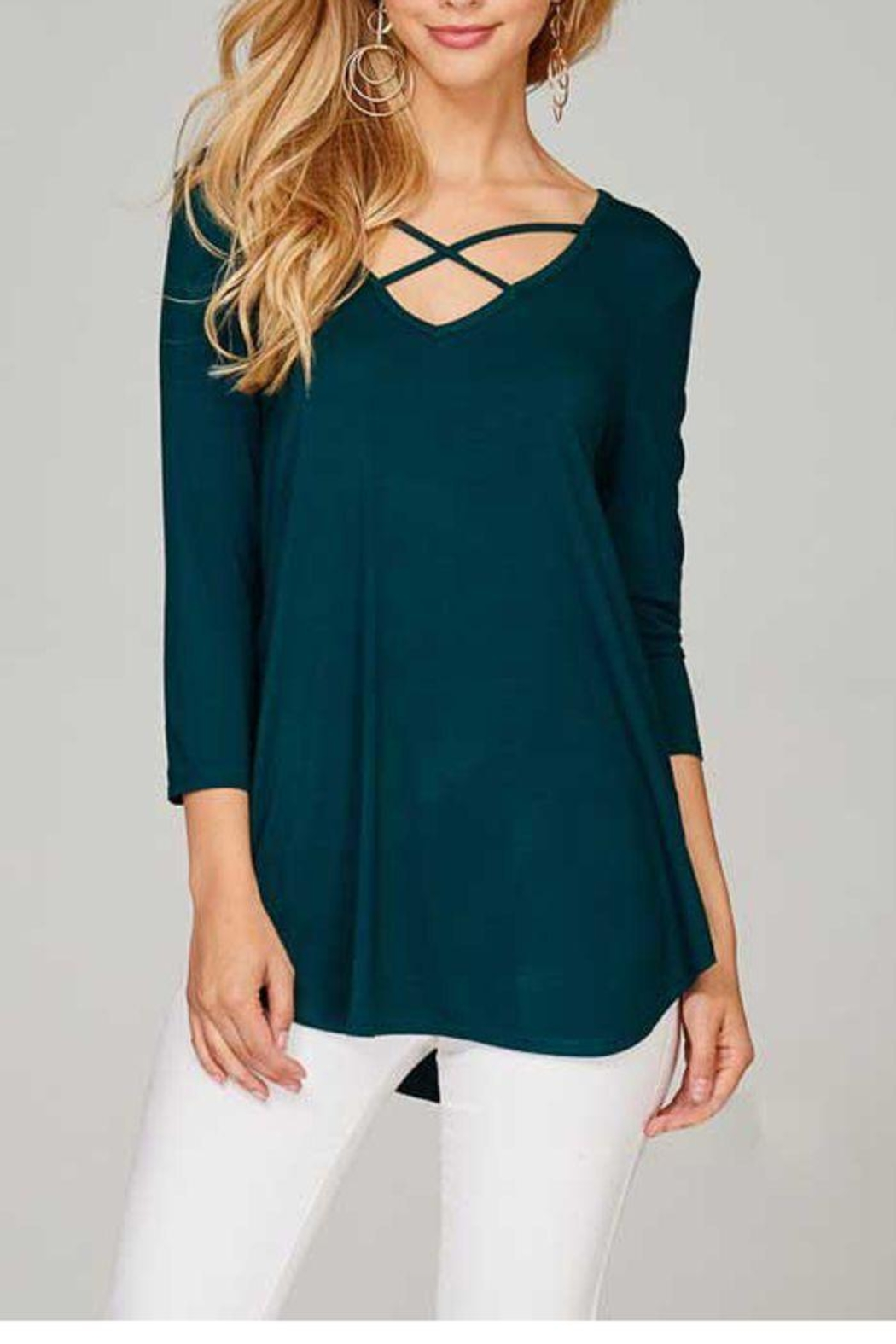 The Dressing Room Criss Cross Top - Front Cropped Image