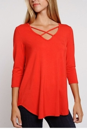 The Dressing Room Criss Cross Top - Product Mini Image