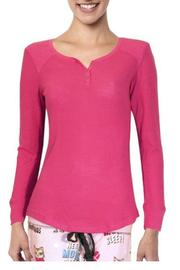 The Dressing Room Deep Pink Henley - Product Mini Image