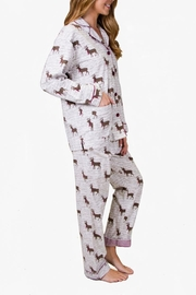 The Dressing Room Deer Print Flannel - Front full body