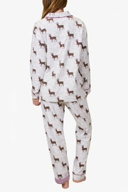 The Dressing Room Deer Print Flannel - Side cropped