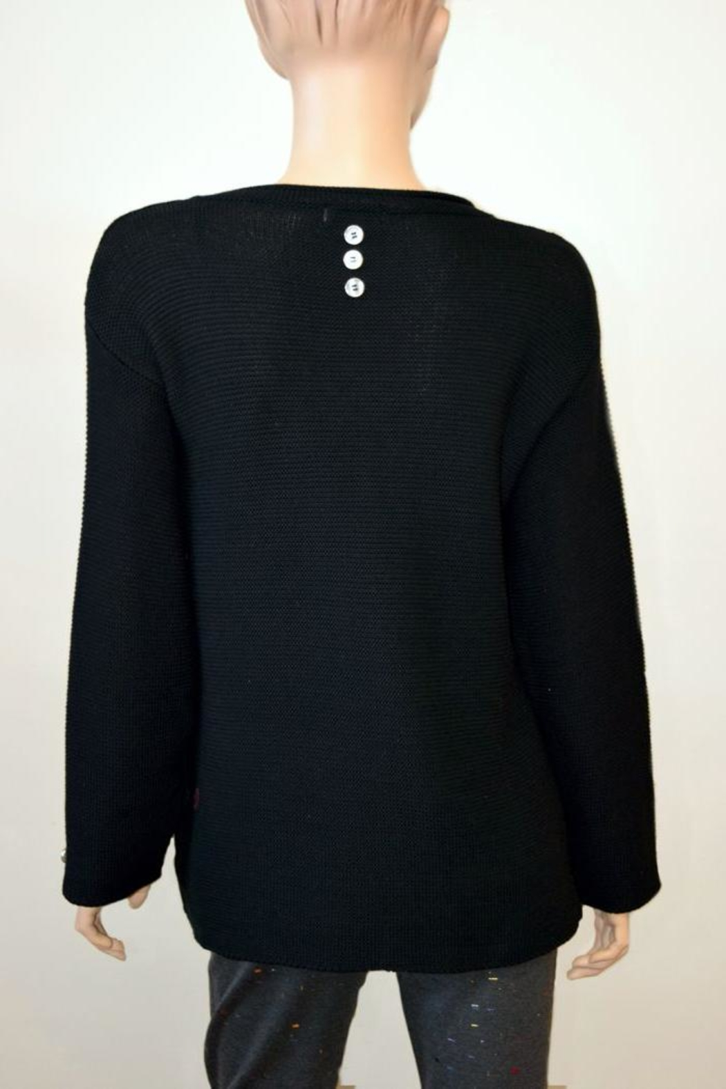 The Dressing Room Embellished Cotton Sweater - Front Full Image