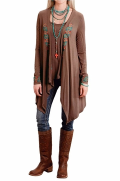 The Dressing Room Embroidered Open Coverup - Product List Image