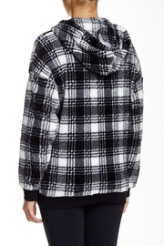 The Dressing Room Fleece Plaid Hoodie - Front full body