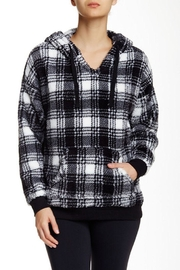 The Dressing Room Fleece Plaid Hoodie - Front cropped
