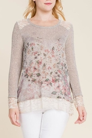 The Dressing Room Floral Embellished Top - Product Mini Image