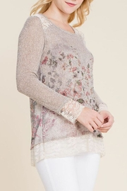 The Dressing Room Floral Embellished Top - Front full body