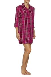 The Dressing Room Fuchsia Plaid Nightshirt - Front cropped