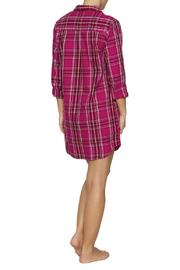 The Dressing Room Fuchsia Plaid Nightshirt - Front full body