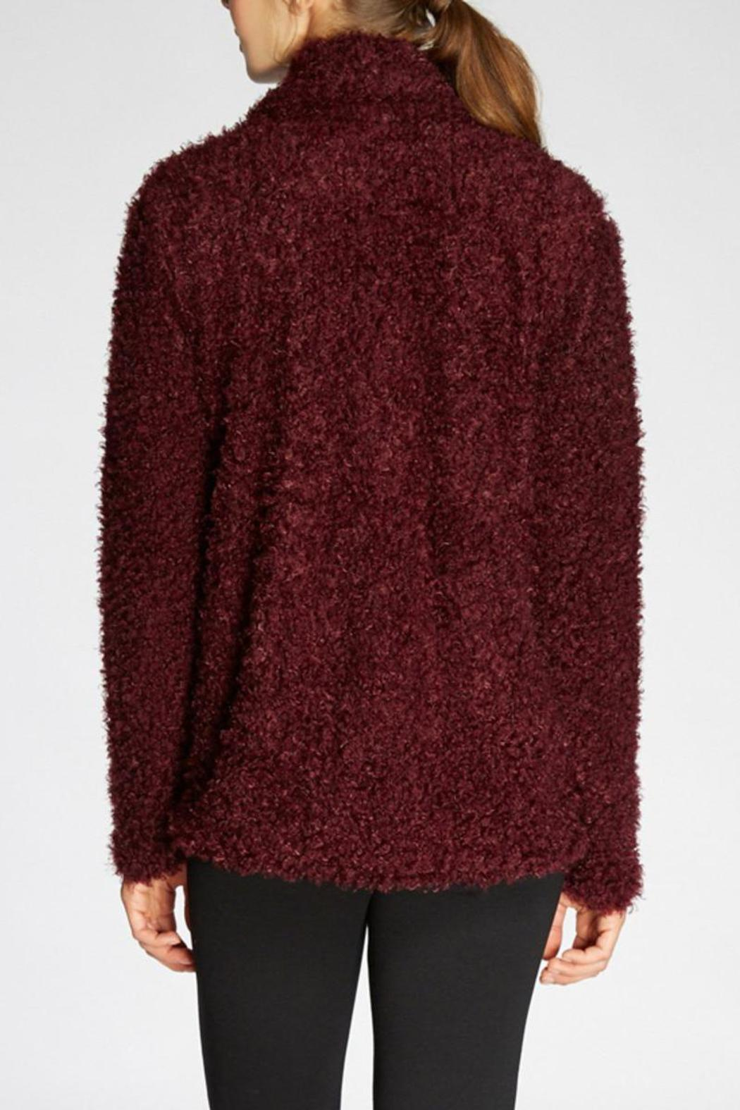 The Dressing Room Fuzzy Burgundy Jacket - Side Cropped Image