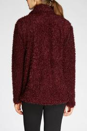 The Dressing Room Fuzzy Burgundy Jacket - Side cropped