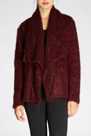 The Dressing Room Fuzzy Burgundy Jacket - Product Mini Image