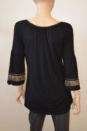 The Dressing Room Gold Beaded Top - Front full body