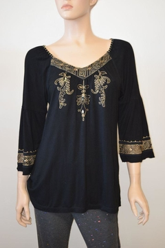 Shoptiques Product: Gold Beaded Top