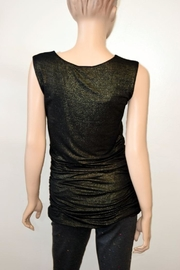 The Dressing Room Gold Rouched Top - Front full body