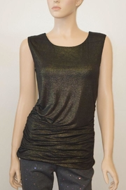 The Dressing Room Gold Rouched Top - Front cropped