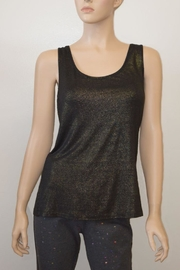 The Dressing Room Gold Shimmer Tank - Front cropped