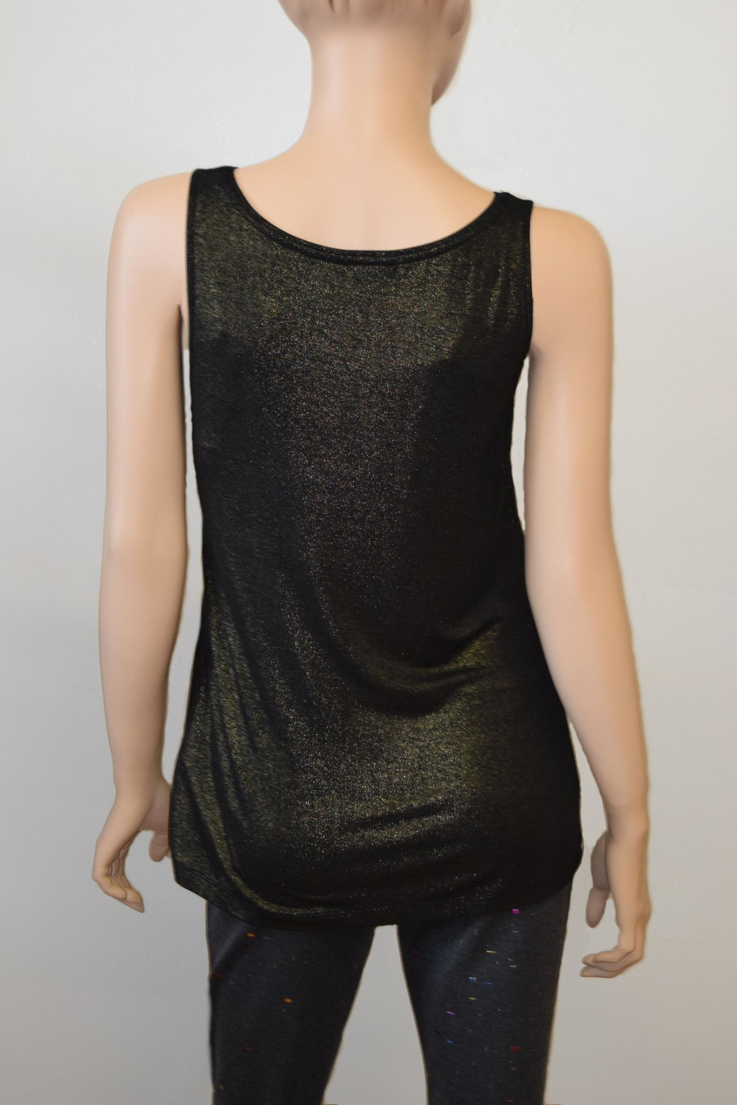 The Dressing Room Gold Shimmer Tank - Front Full Image