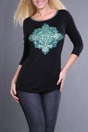 The Dressing Room Green Medallion Top - Product Mini Image