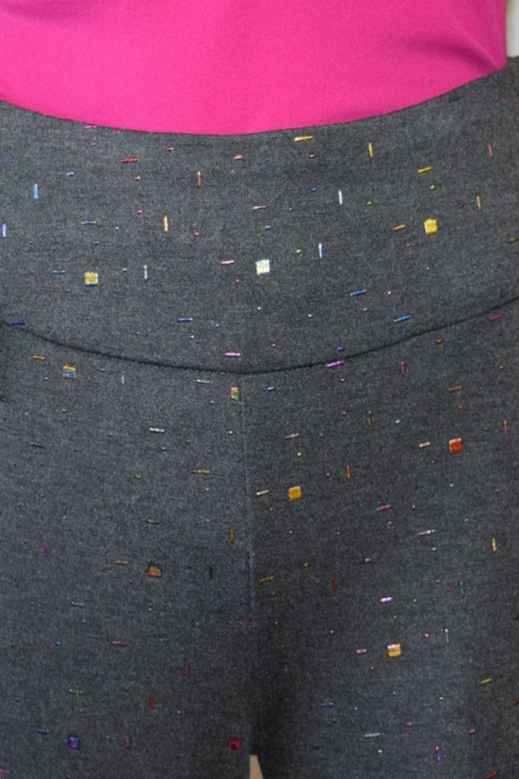 The Dressing Room Grey Confetti Pants - Side Cropped Image