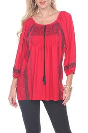 The Dressing Room Hand Beaded Tunic - Product Mini Image