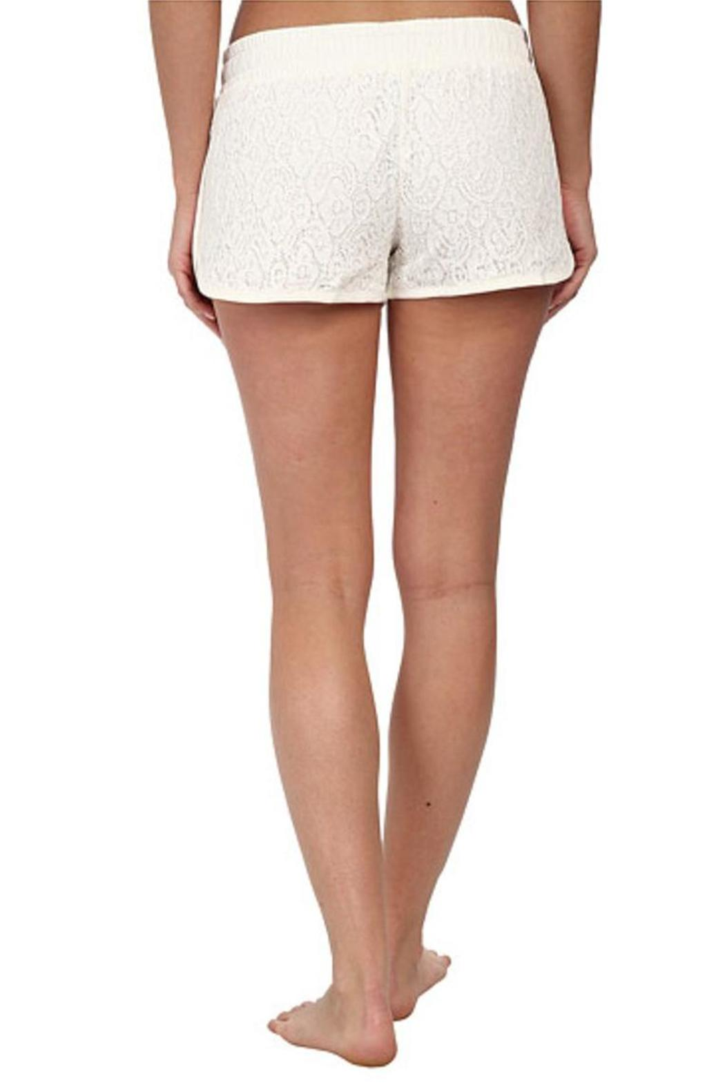 The Dressing Room Ivory Lace Shorts - Side Cropped Image