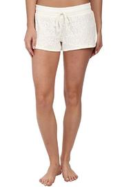 The Dressing Room Ivory Lace Shorts - Front cropped