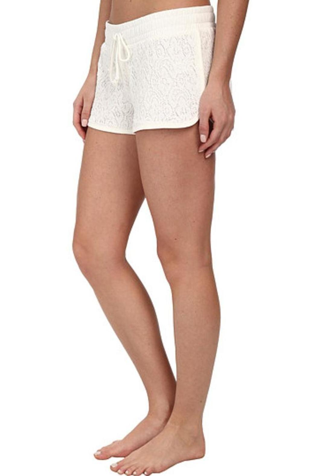 The Dressing Room Ivory Lace Shorts - Front Full Image