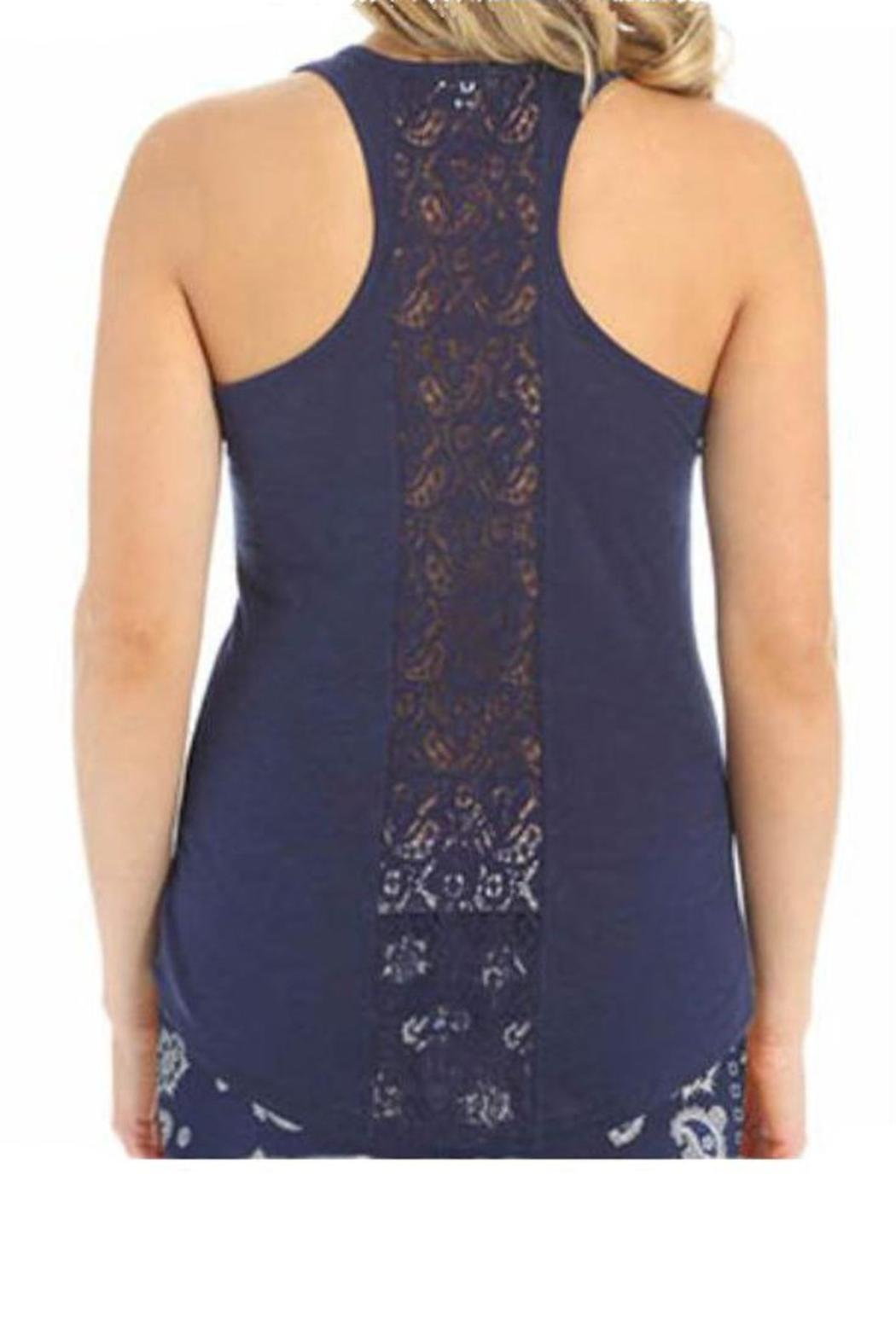 The Dressing Room Lace Back Tank - Front Cropped Image