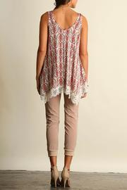 The Dressing Room Lace Coral Top - Front full body
