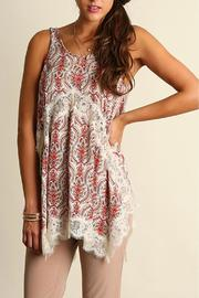 The Dressing Room Lace Coral Top - Product Mini Image