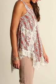 The Dressing Room Lace Coral Top - Side cropped